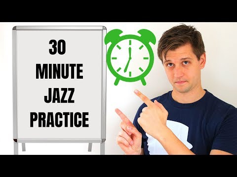 30 Minute Jazz Practice Session!