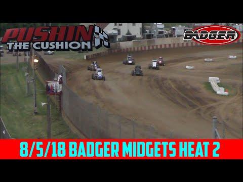 Angell Park Speedway - 8/5/18 - Badger Midgets - Heat 2