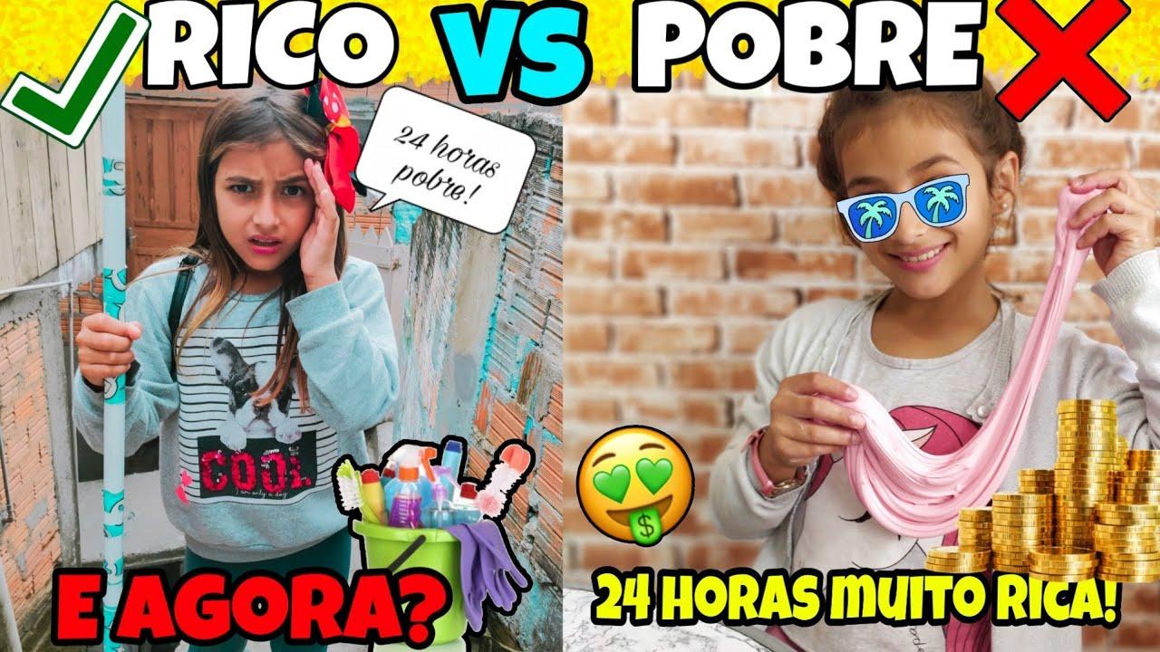 RICO VS POBRE FAZENDO AMOEBA SLIME #21