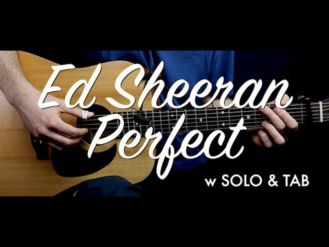 Ed Sheeran - Perfect guitar Lesson Tutorial w SOLO & TAB guitar Cover & chords/How to play