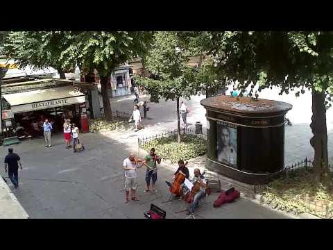 Musica clasica en plaza Bib-Rambla, Granada