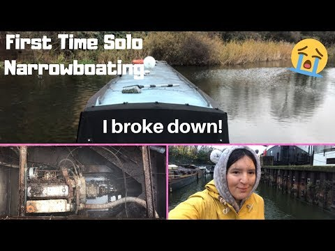 First Solo Narrowboat Journey - I Broke Down!