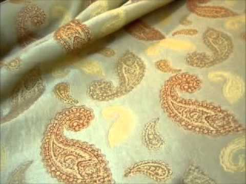 Color Tea Paisley Fish Upholstery/Decorating Fabric