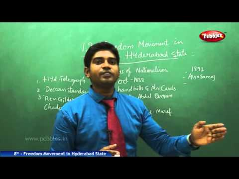 Freedom Movement in Hyderabad State | 8th Social Studies | AP & TS State Board Syllabus | Live Video