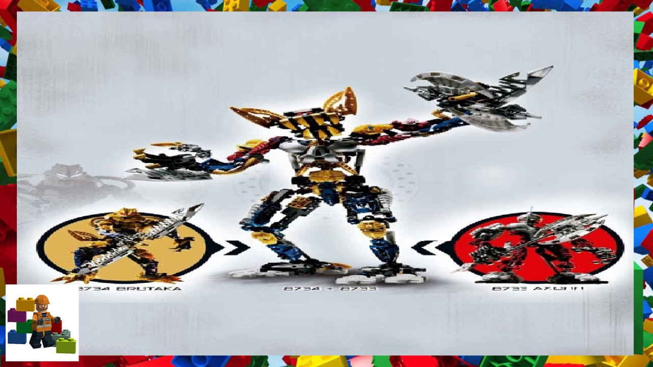 Lego axon instructions 8733, bionicle.