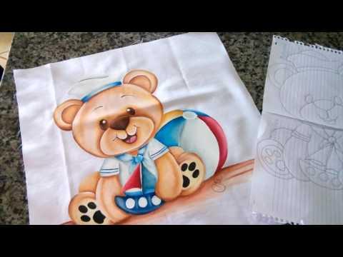 Assistam a video aula como pintar ursinho marinheiro