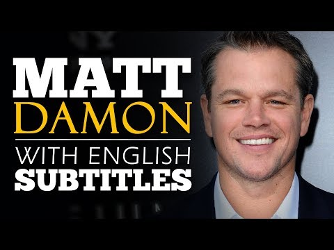 ENGLISH SPEECH | MATT DAMON: What We Do Matters (English Subtitles)