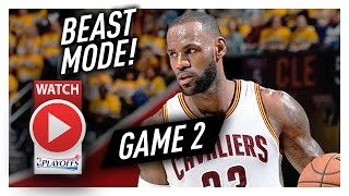 Lebron james game 2 ecsf highlights vs raptors 2017 playoffs - 39 pts, 6 reb, so good!
