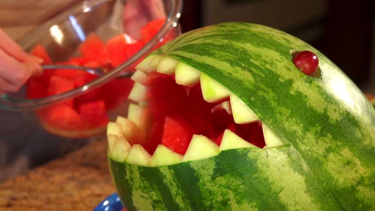 How to carve a watermelon shark youtube
