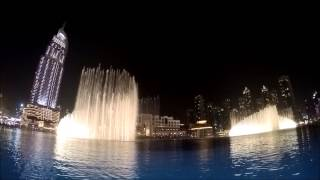 Dubai Mall Fountain on a GoPro Camera Arabic Music