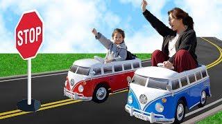 빨간 버스 파란 버스 ~~ 출동!! 서은이의 미니 버스 폭스바겐 타요 장난감 쇼핑 Pretend Bus Driver Power Wheels