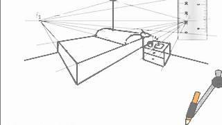 Dibuja una habitacion en perspectiva conica - Habitacion en perspectiva conica ...