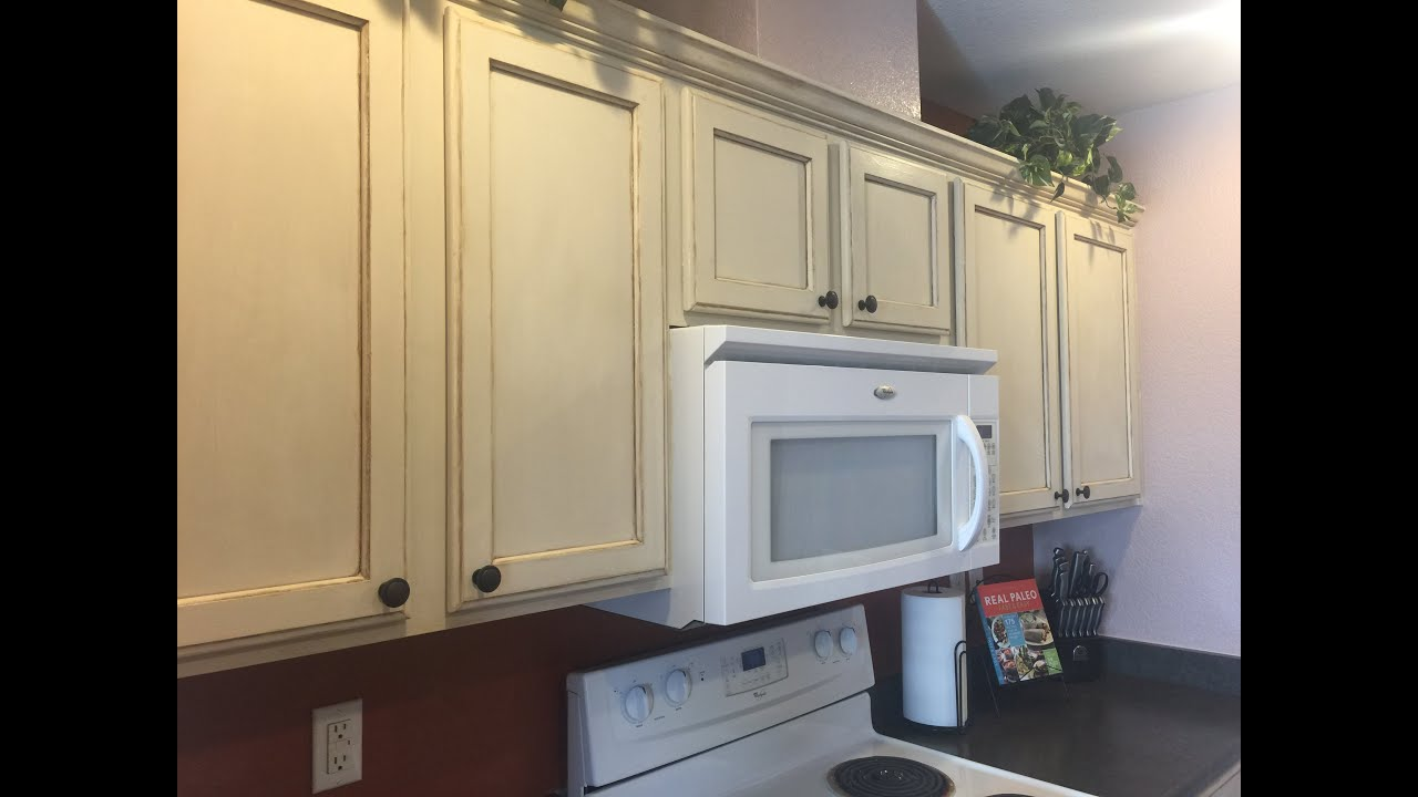 diy kitchen cabinet remodel with annie sloan chalk paint - youtube