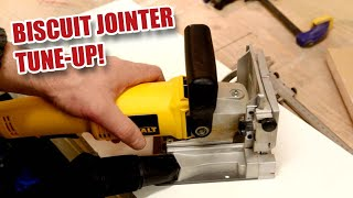 DeWalt DW682K Biscuit Jointer / Plate Joiner - Truing up and Blade Changing