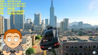 Watch Dogs 2 Pc Ultra GTX 1070 Overclocked 1080p Frame Rate Performance Test