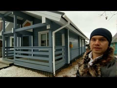 Дом в 100 м2 из клееного бруса 200 мм