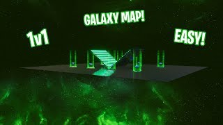 How to Make THE GREEN GALAXY 1v1 MAP/ARENA IN CREATIVE MODE! (EASY TO MAKE!)