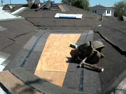 Roofing Cricket Cold Seal Cement Installation