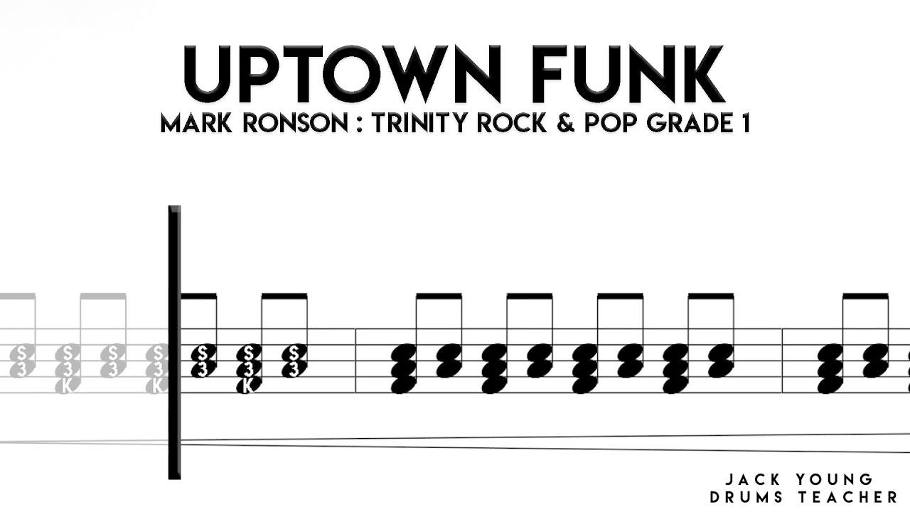 Download Uptown Funk   Trinity Rock & Pop Drums Grade 1