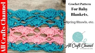 Easy to Crochet Motif for baby blankets, spring shawls etc