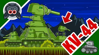 KV-44 Saboteur Mode. Steel Monster vs Super Mutants. Cartoons About Tanks