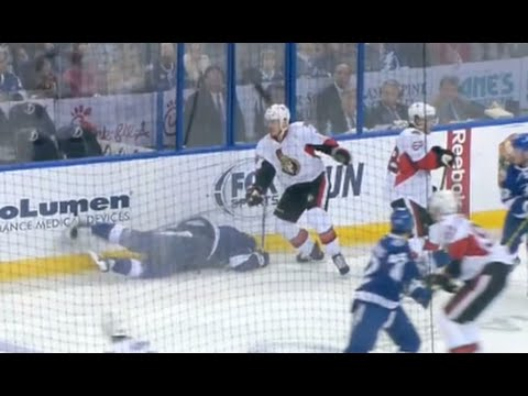 Mark Borowiecki Hit on Brian Boyle Fights Coburn - Game Misconduct