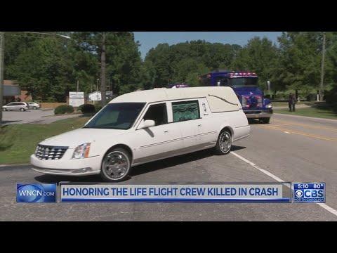 Remains of Duke Life Flight crew escorted home