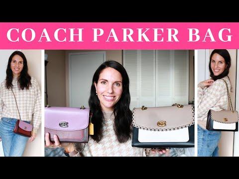 COACH PARKER BAG REVIEW & LOOK INSIDE