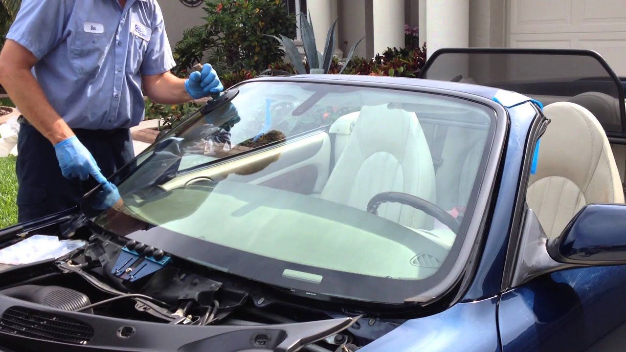 How To Install Windshield On A 2000 Jaguar Xk8 With The