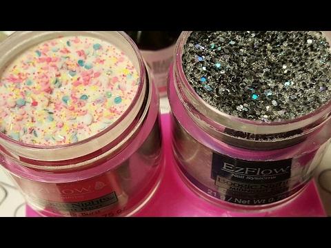 My New EZFLOW Acrylic Glitter Powders