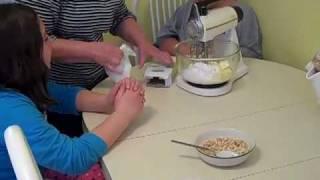 Part 1 Making A Delicious Kurabie   Greek Pastry Sugar/butter Cookie