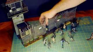 Unboxing & Assembly Of The Mcfarlane Amc Walking Dead Prison Tower & Gate Playset