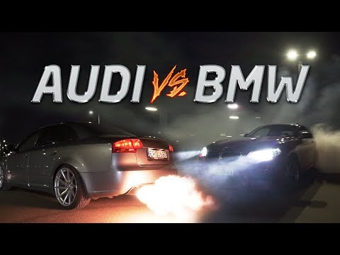 TUNED AUDI VS TUNED BMW STREET RACING