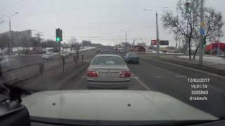 Минск, Партизанский пр-т. Спровоцировал ДТП. Поворот налево запрещен