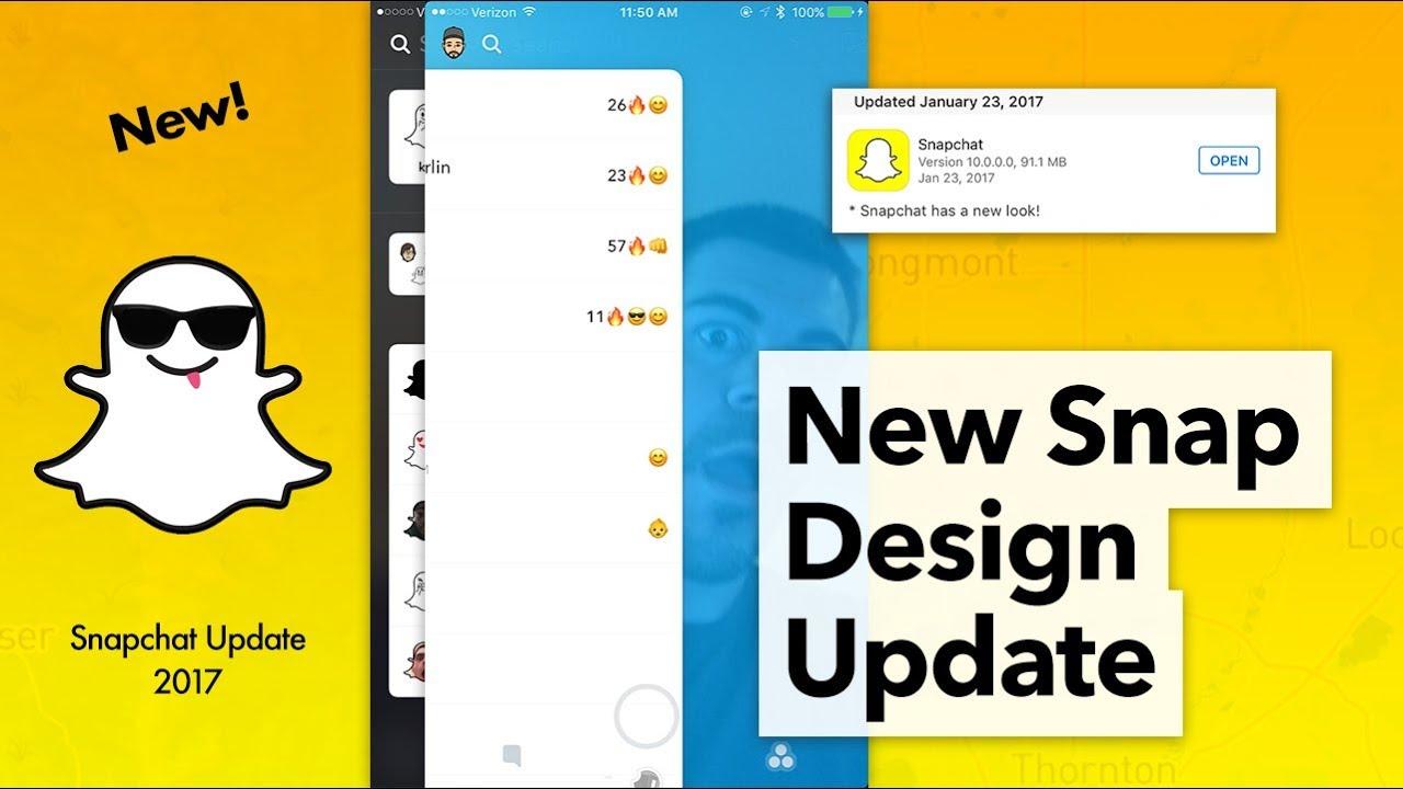 nieuwe update snapchat