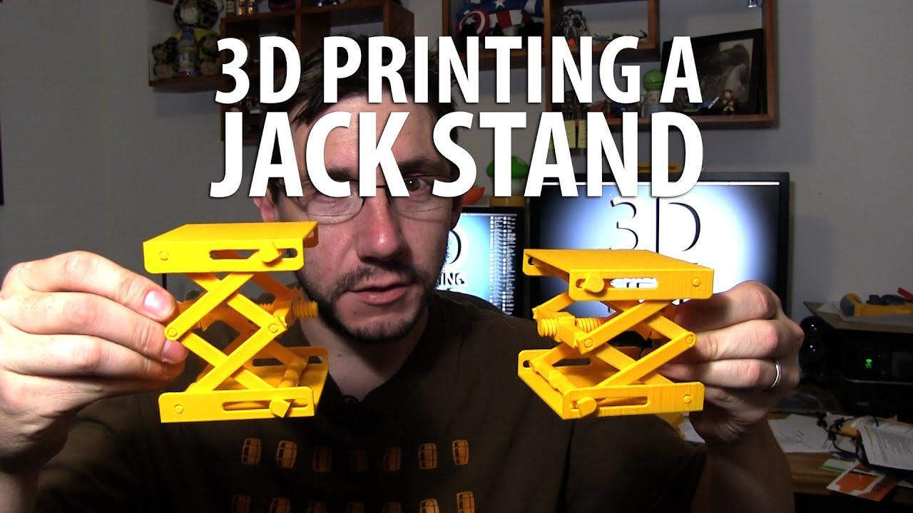 3d Printing A Jack Stand Scissor Lift Plus Simplify3d