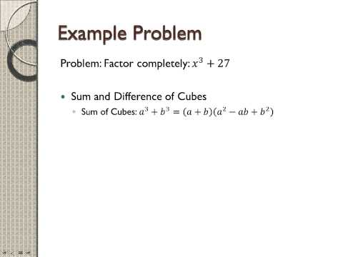 How to factor x^3+27 - YouTube