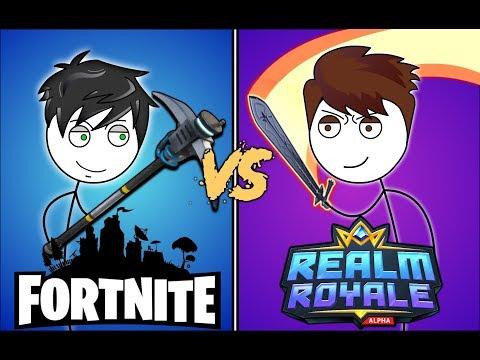 FORTNITE GAMERS VS REALM ROYALE GAMERS. Ft Crazy Monkey