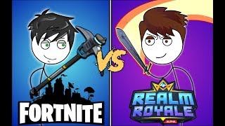 FORTNITE GAMERS VS REALM ROYALE GAMERS. ft Crazy monkey