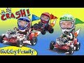 Real GO-KART RACE! Who Wins the Race? Super Fun Fast Track HobbyFamilyTV