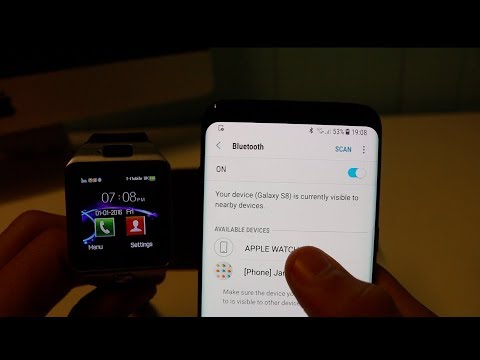 How to Connect A Smartwatch (DZ09) To Your Phone