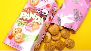 Meiji Hello Panda Strawberry Creme Filled Cookies