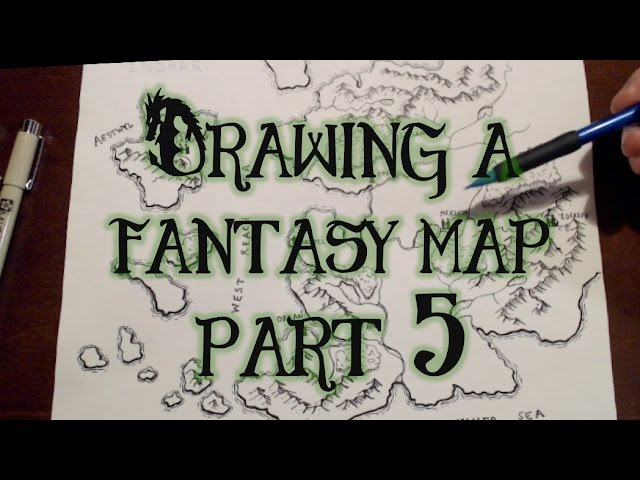 Drawing a Fantasy Map (part 5) - Cities, towns, and naming things