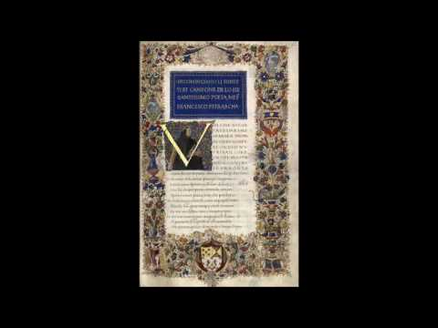 Petrarca - Canzoniere (I  - V componimenti ) Rerum Vulgarium Fragmenta