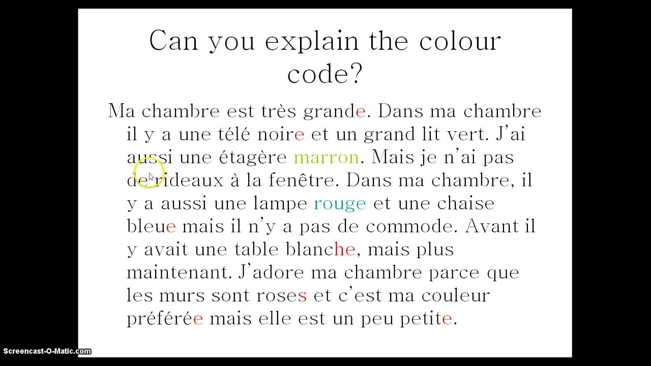 Chambre Word Search French Perfect Written Piece On Dans Ma Chambre With Commentary