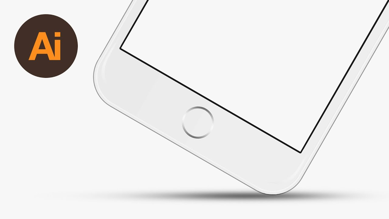 learn how to draw a vector iphone 6 in adobe illustrator