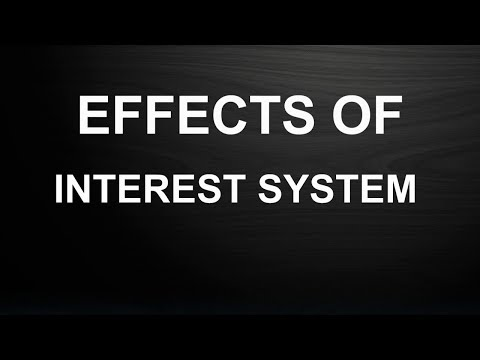 Effects of Interest System Described by Tariq Jameel Islam Pedia