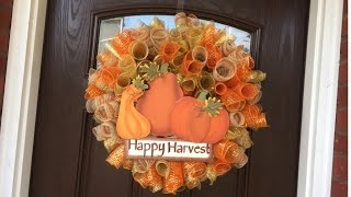 Fall Mesh Loop Wreath Tutorial 2015