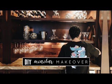 Easy Mini Bar Makeover | Built In Beverage Center