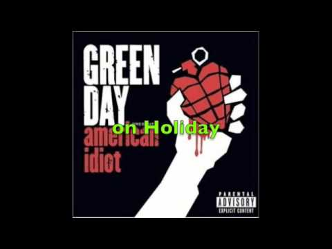 Green day - holiday with lyrics
